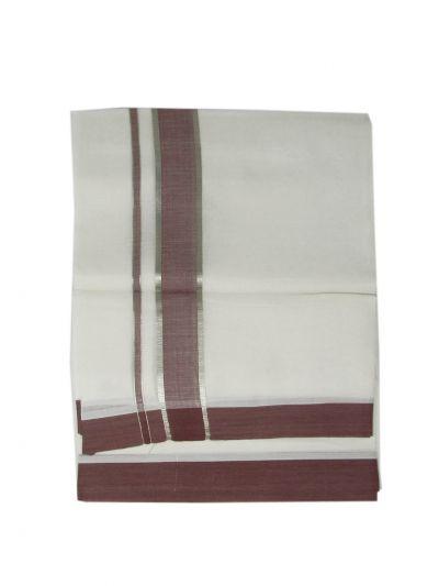 Men's Fancy Border Dhoti - NEA1581501- EKM