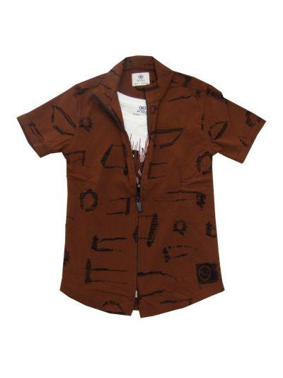 Boys Branded Shirt With T-Shirt (MDU) - NGB0515329