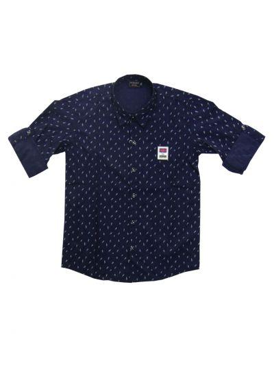 Boys Branded Printed Cotton Shirt - MDU