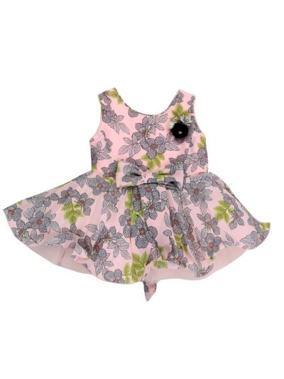 Girls Printed Design Synthetic Fancy Frock - MJA7045799 Size-12(0 to 6 months)