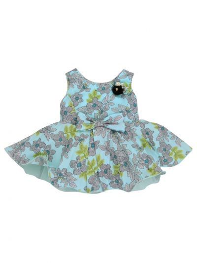 Girls Printed Design Synthetic Fancy Frock - MJA7045803 Size-12(0 to 6 months)