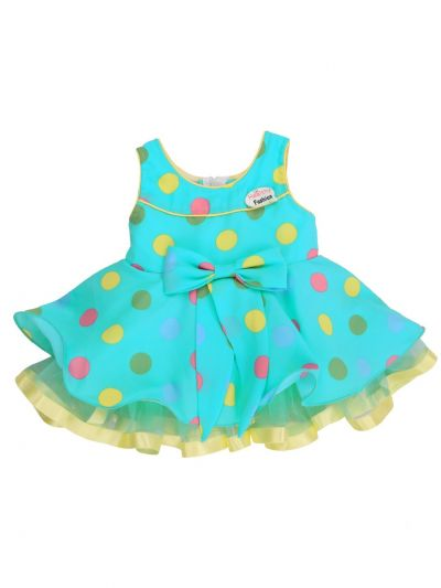 Girls Printed Design Synthetic Fancy Frock - MJA7045766 Size-12(0 to 6 months)