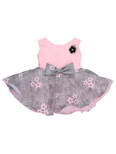Infant Girls Synthetic Fancy Frock - MJA7045825 Size-12(0 to 6 months)