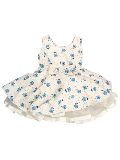 Infant Girls Printed Design Synthetic Fancy Frock - MFB6194956 Size-14(6 to 9 months)