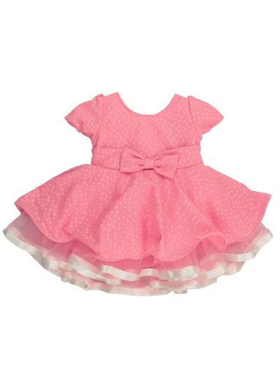 Infant Girls Printed Design Synthetic Fancy Frock - MJA7045819 Size-14(6 to 9 months)