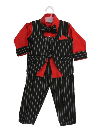 Boy Casual Coat With Shirt, Waistcoat, Tie And Pant Set-MJB7322150 Size 16 - (1 Year)