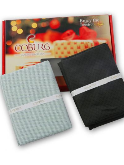 COBURG Shirt & Trouser Poly Viscose Mixing Fabric Set - MFB4794244
