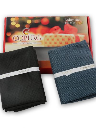 COBURG Shirt & Trouser Poly Viscose Mixing Fabric Set - MFB4794251