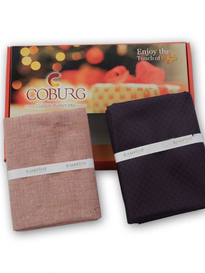 COBURG Shirt & Trouser Poly Viscose Mixing Fabric Set - MFB4794302