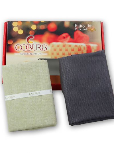 COBURG Shirt & Trouser Poly Viscose Mixing Fabric Set - MFB5922677