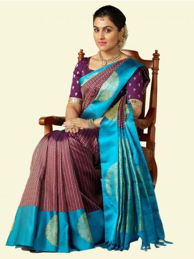 Vivaha Goddess Bridal Pure Kanchipuram Silk Saree - 3003