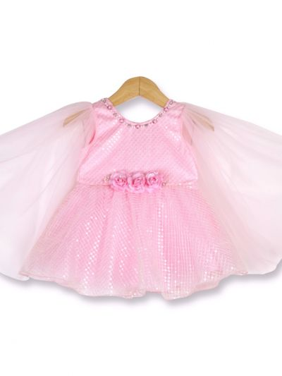 Girls Fancy Netted Frock-18 (2- Years) - MFB2773174