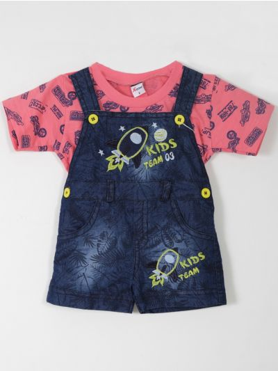 Infant Boys Cotton Rompers (6 to 12 Months)-MCA8261713
