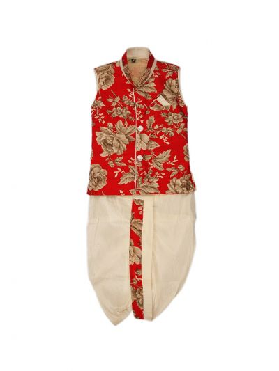 Infant Boys Readymade Dhoti Set  -  LJE1085680