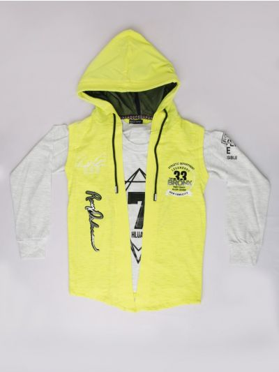 MLC1401802 -  Boys Hooded T-Shirt