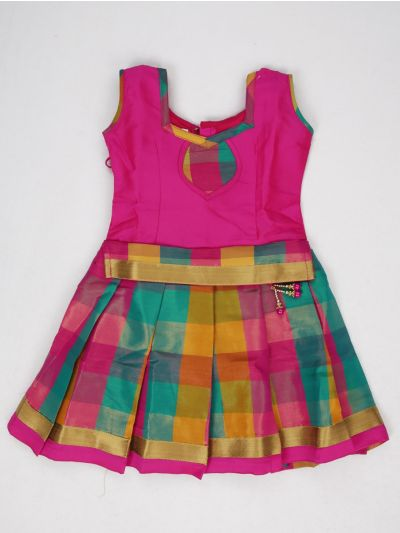 NCC0245659 - Girls Ready Made Art Silk Pavadai Set