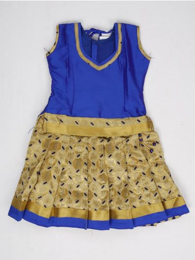 NCC0245665 - Girls Ready Made Art Silk Pavadai Set