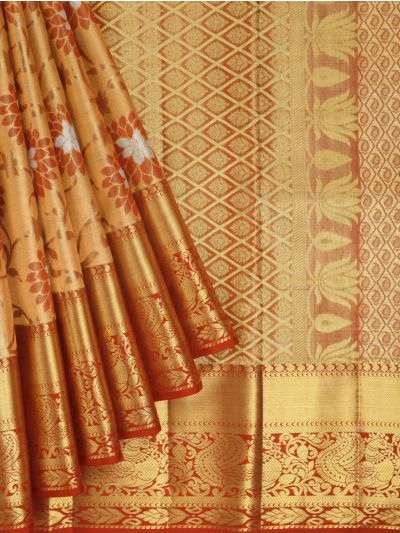 Vivaha Exclusive Bridal Zari Border and Pallu Handloom Kanchipuram Silk Saree - MID4733879