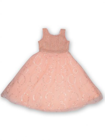 NDB0882241 - Girls Fancy Netted Frock
