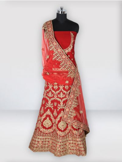 Semi-Stitched Lehenga & Blouse with Dupatta-MIC750662