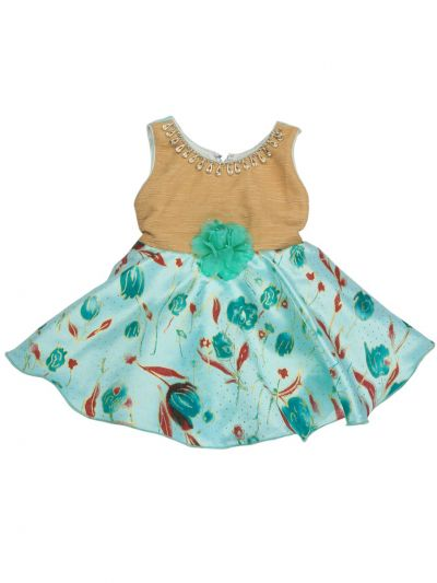 Infant Girls Printed Design Synthetic Fancy Frock - MFB1203801 Size-14(6 to 9 months)