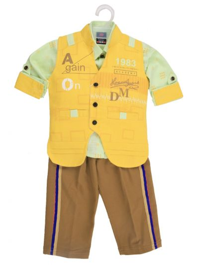 Boy Casual Coat With Shirt, Waistcoat And Pant Set-MJB7322135 Size 16 - (1 Year)