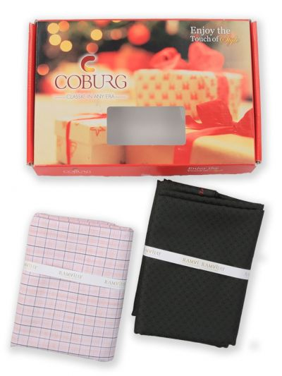 COBURG Shirt & Trouser Poly Viscose Mixing Fabric Set - MFB4794216
