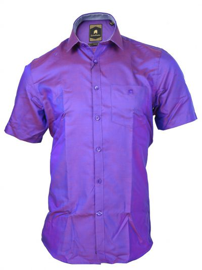 Zulus Festin Men's Cotton Formal Half Sleeve Shirt - MGA7454805