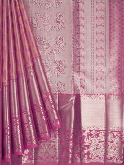 Vivaha Exclusive Bridal Zari Border and Pallu Handloom Kanchipuram Silk Saree - MID4733878