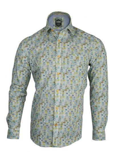 EKM- ZF Men's Readymade Casual Cotton Shirt