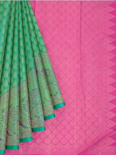 Estrila Exclusive Bridal Fancy Border Handloom Kanchipuram Silk Saree - MID4564154