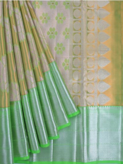 Vivaha Exclusive Bridal Zari Border and Pallu Handloom Kanchipuram Silk Saree - MID4733881