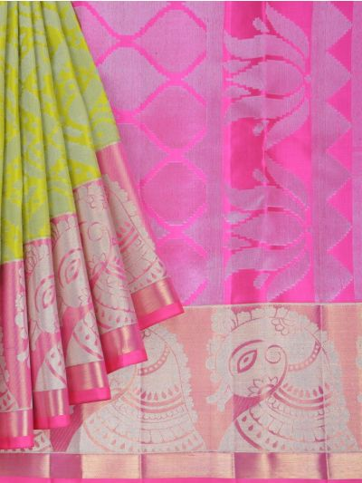 Vivaha Exclusive Bridal Zari Border and Pallu Handloom Kanchipuram Silk Saree - MID4733883
