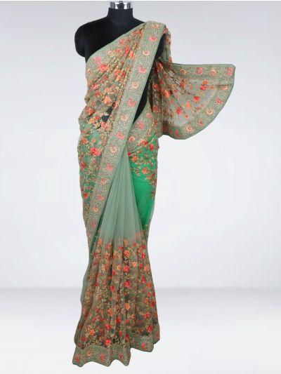 Kyathi Exclusive Thread Jaal & Patch Work Designer Saree - MIA2929008