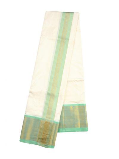 Vivaha Traditional Pure Silk Fancy Border Dhoti - NLA4916642