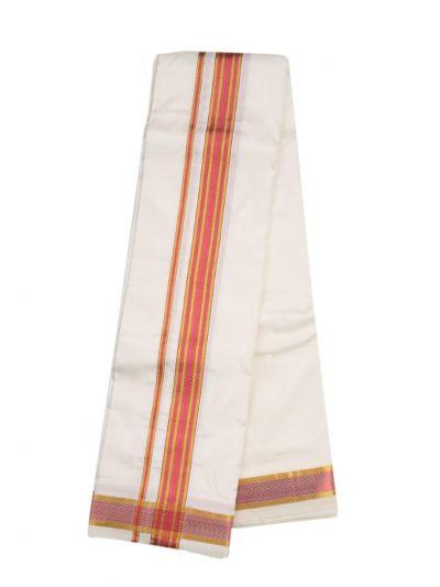 Vivaha Traditional Pure Silk Fancy Border Dhoti -NLD6167112