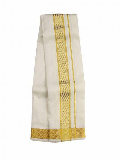 Vivaha Fancy Border Silk Dhoti and Angavastram - ODC3206468