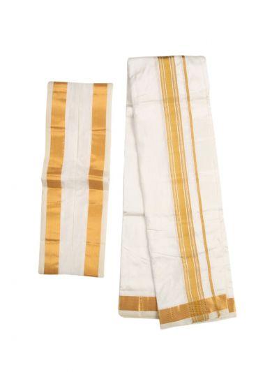 Vivaha Fancy Border Silk Dhoti and Angavastram - NFD5116670