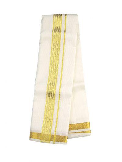 Vivaha Fancy Border Silk Dhoti and Angavastram - OAD2035753