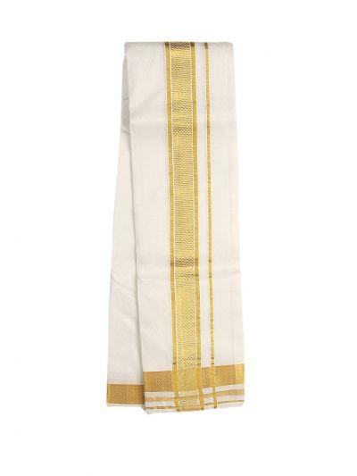 Vivaha Fancy Border Silk Dhoti and Angavastram - OAD2035754