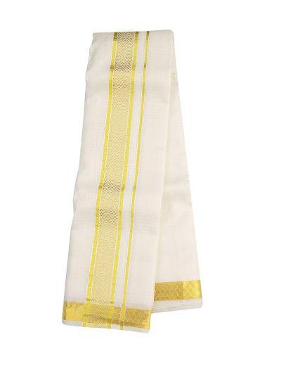 Vivaha Fancy Border Silk Dhoti and Angavastram - OAD2035755