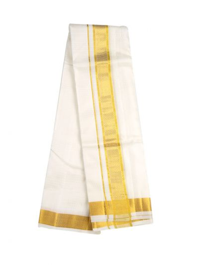 Vivaha Fancy Border Silk Dhoti and Angavastram - OAD2035756
