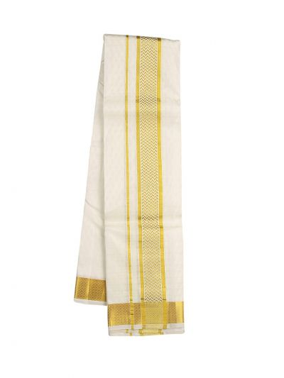 Vivaha Fancy Border Silk Dhoti and Angavastram - ODC3206469