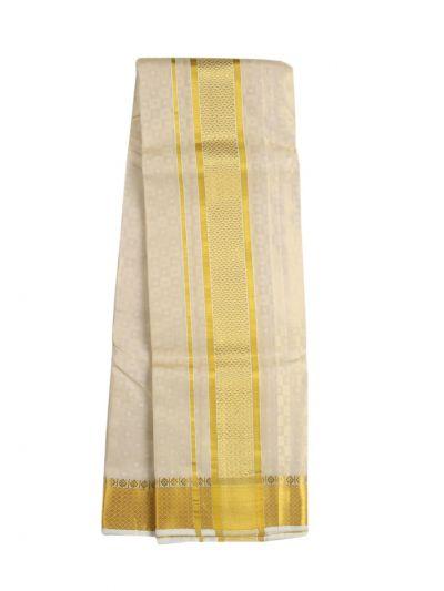 Vivaha Fancy Border Silk Dhoti and Angavastram - ODC3206477