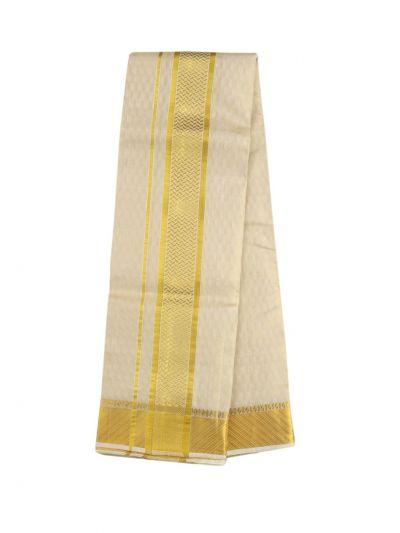 Vivaha Fancy Border Silk Dhoti and Angavastram - ODC3206478