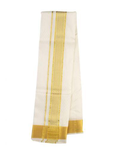 Vivaha Fancy Border Silk Dhoti and Angavastram - ODC3206471