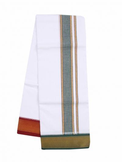 KKV Men's Cotton Mayilkan Dhoti - ODA2543663