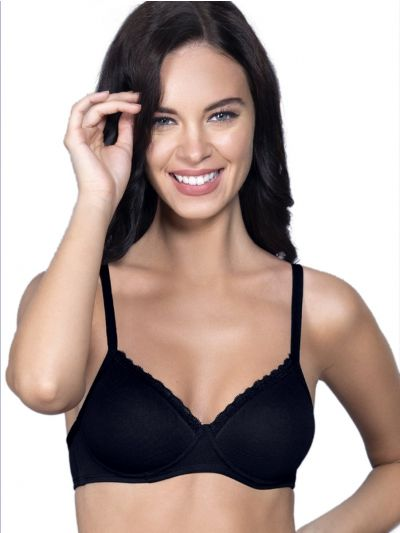 Womens Solid Paded Non Wired Bra - OEC5231024