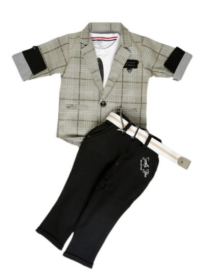 MFB61055543 - Boys Fancy Baba Suit and Pant Set