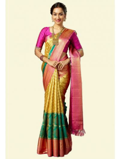 Vivaha Goddess Bridal Pure Kanchipuram Silk Saree